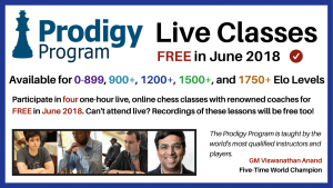 Prodigy Program Live Classes FREE in June 2018