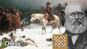 La huida de Napoleón Bonaparte I de Moscú.