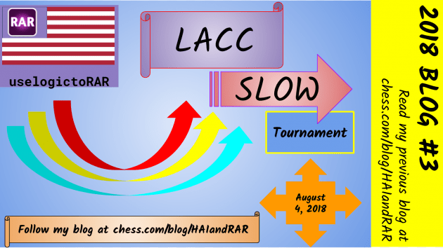 Los Angeles Chess Club Saturday Slow Tournament --- August 4, 2018