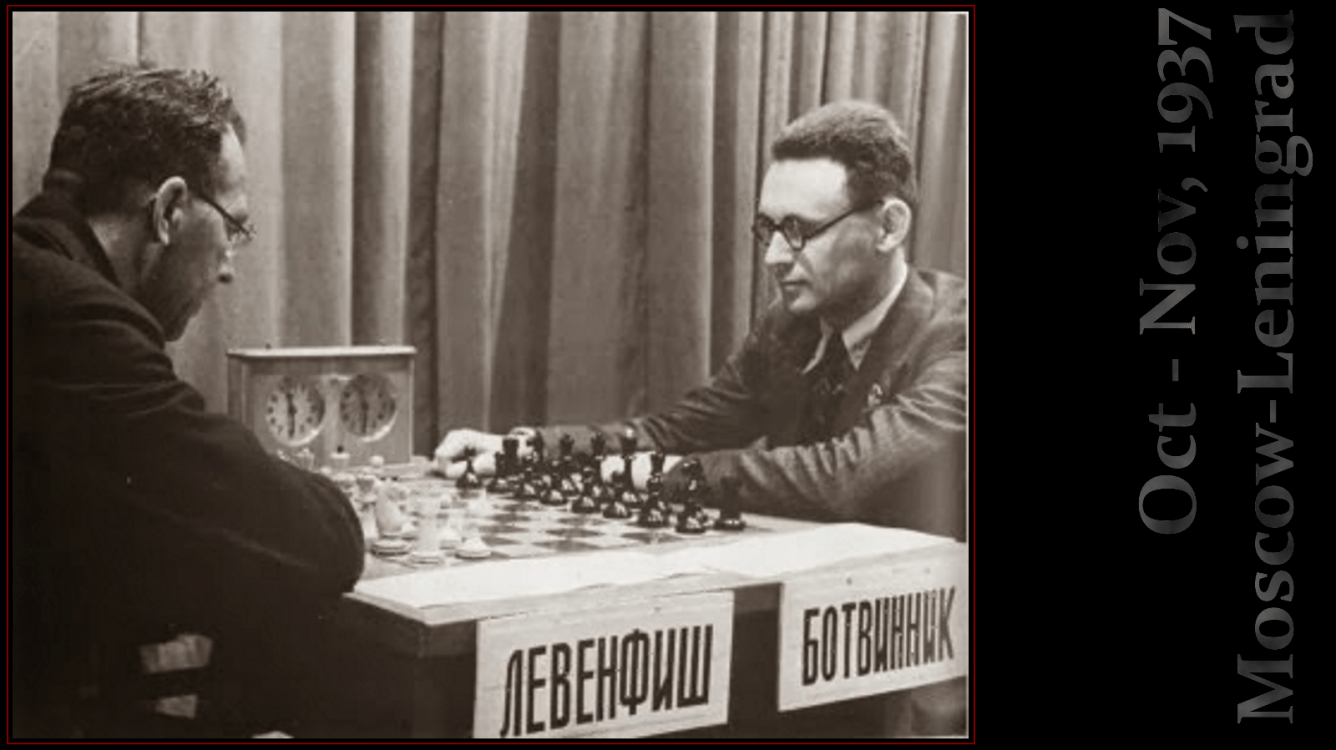 Grigory Levenfish vs Mikhail Botvinnik, USSR 1937... in the shade of world chess championship