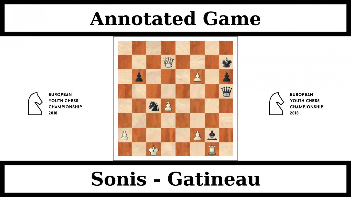 Sonis won European Chess Championship U16 - Annotated game : Sonis vs Gatineau