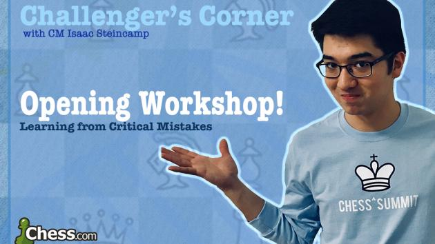 Challenger's Corner: Opening Workshop!