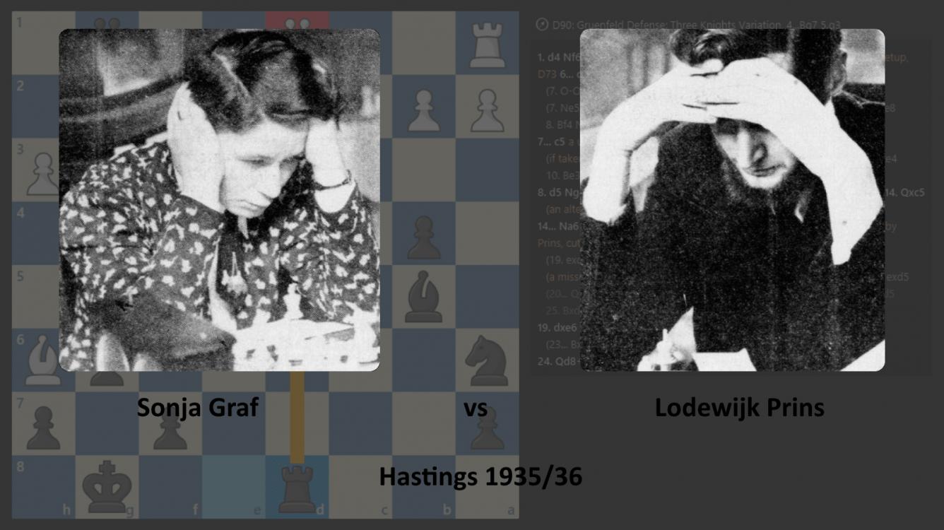 Sonja Graf vs Lodewijk Prins in Hastings 1935/36
