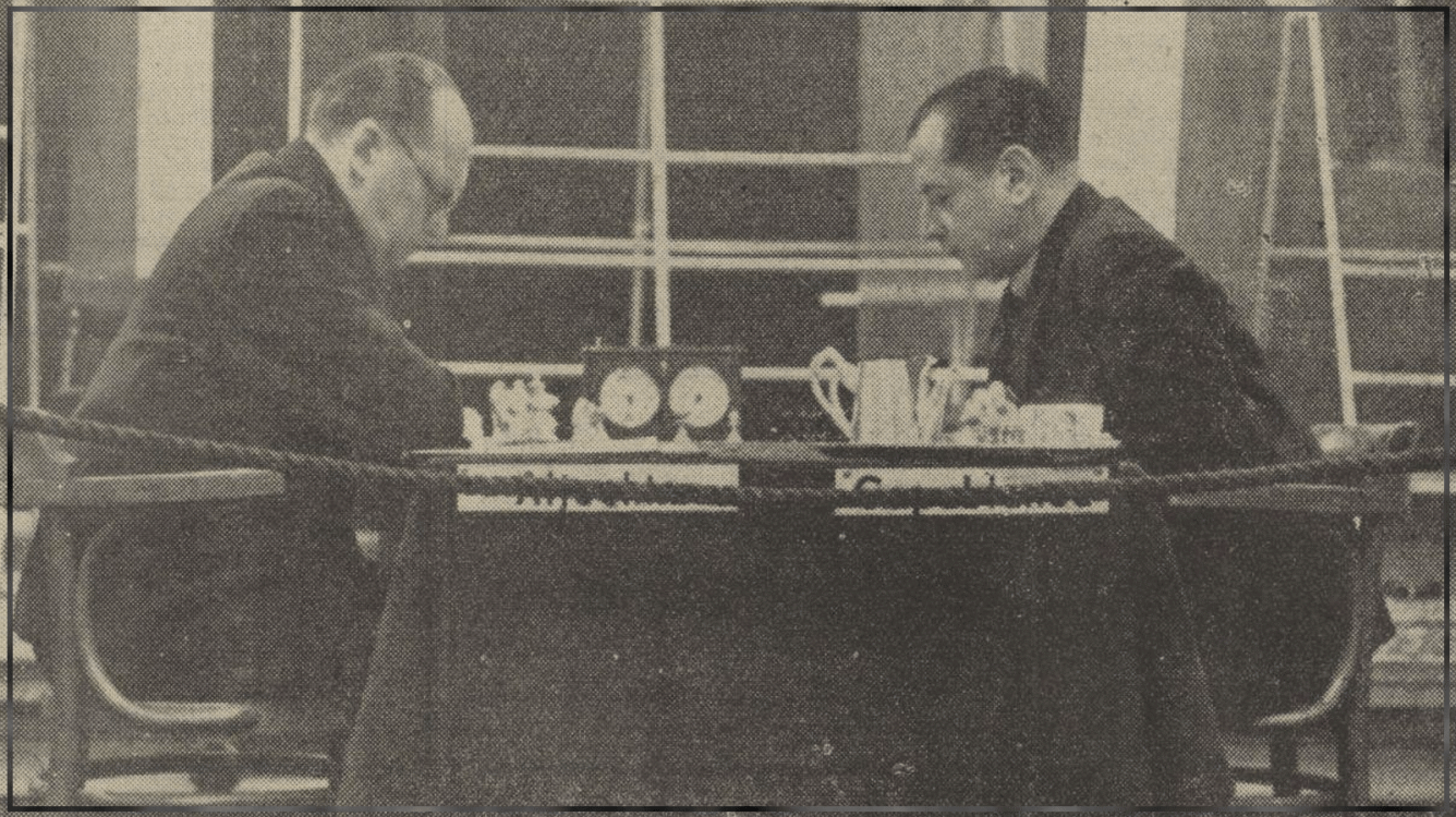 Alekhine' s present to Capablanca for his 50th birthday... their last game in AVRO 1938