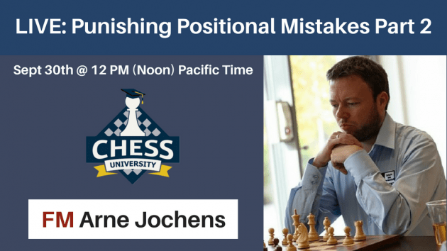 LIVE SEMINAR: Punishing Positional Mistakes Part 2