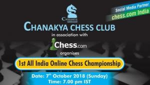 Chanakya Chess Club's 1st All India Online Chess Championship