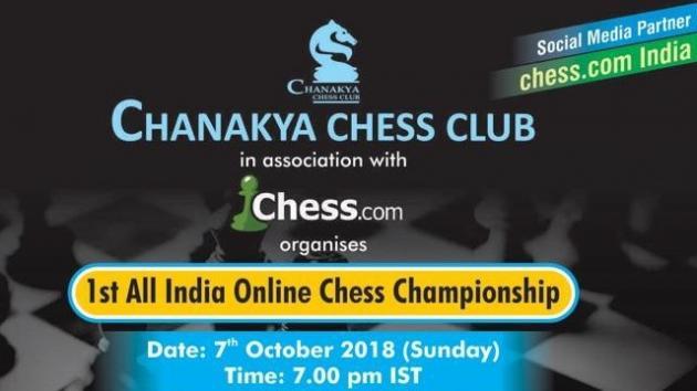 Chanakya Chess Club's 1st All India Online Chess Championship