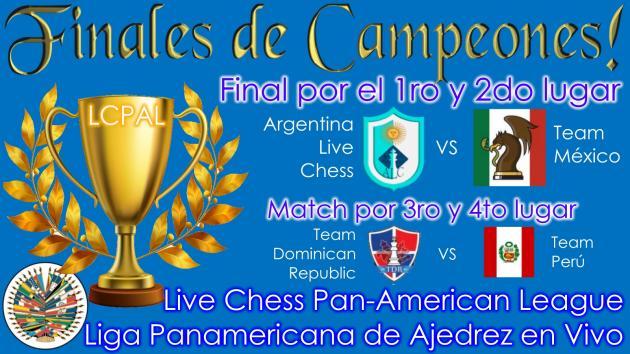 Finales de Campeones - Liga Panamericana de Ajedrez en Vivo