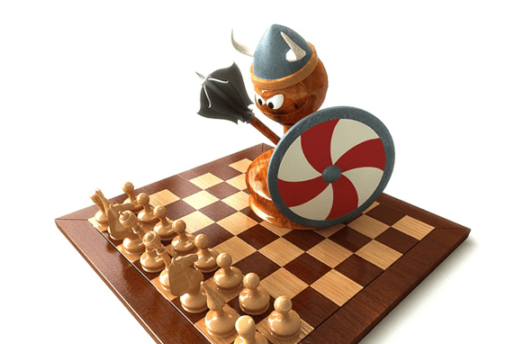 Chess, Vikings and Asymmetric Warfare