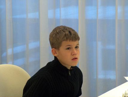 Young genius: Magnus Carlsen at Aeroflot 2004