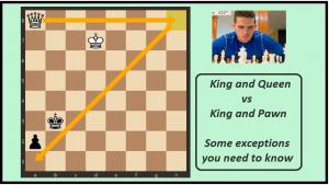King and Queen Vs King and Pawn: Some exceptions you need to know (+ Video)