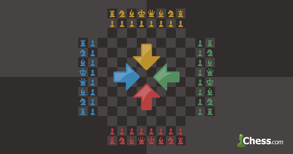 Четверные шахматы - правила