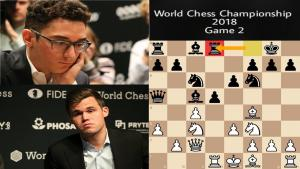 WCC 2018 Rd 2: Black wins the opening battle once again, Carlsen manages to withstand Caruana's prep
