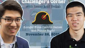 Challenger's Corner: Catching up with National Master Beilin Li