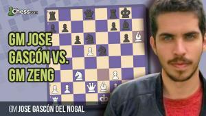 Análisis Partida: GM Gascón Del Nogal vs GM Zeng