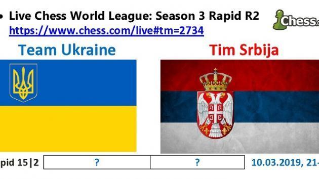 Украина - Сербия. Матч по быстрым шахматам.