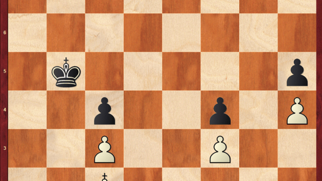 Pawn Ending with Black to move, a student's query