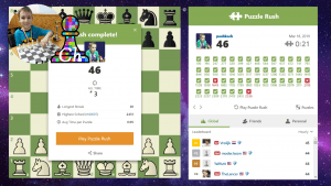 FRESH online RECORD!!! Chess prodigy Tihon(9 y.o.) did 46 in Puzzle Rush.