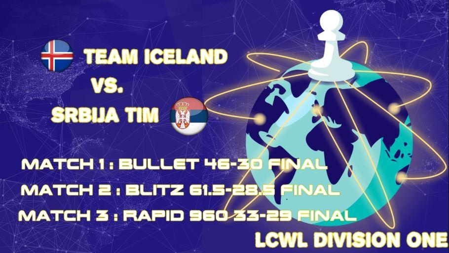 Team Iceland beats Srbija Tim in LCWL Division 1