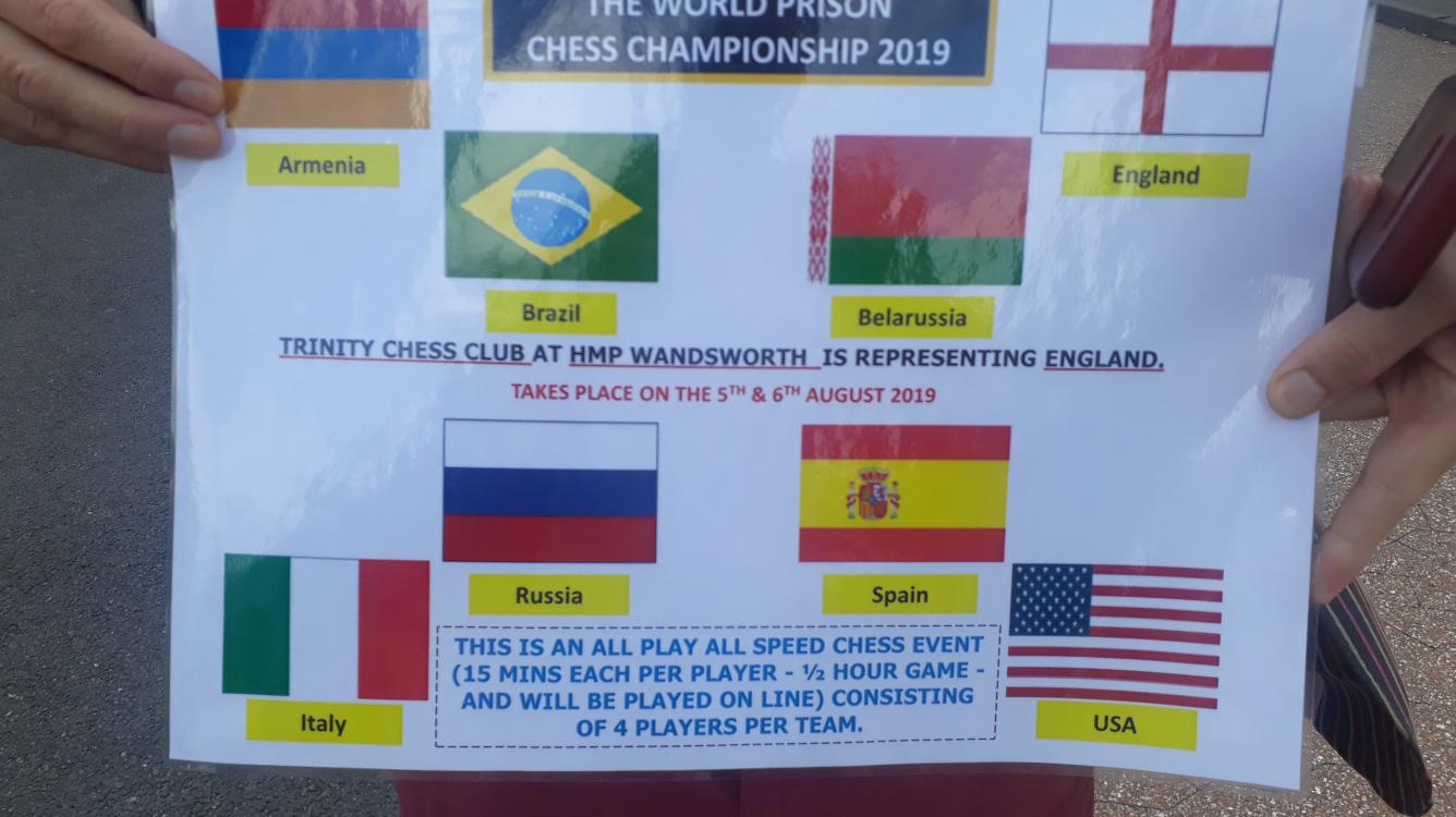 The First Prison World Chess Championships in Wandsworth Prison!