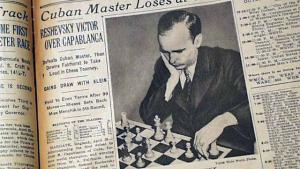 Reshevsky's Margate win over Capablanca, as reported by 64 newspaper
