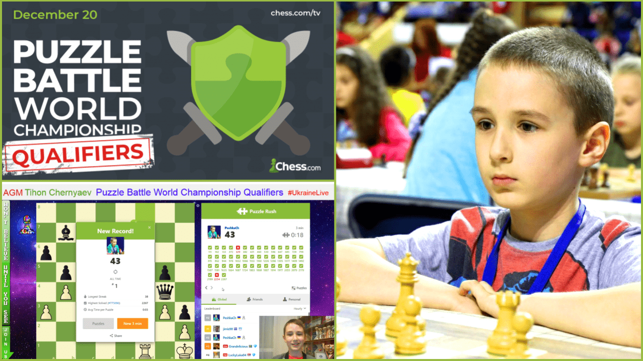 Puzzle Battle World Championship Qualifier on Chess.com.