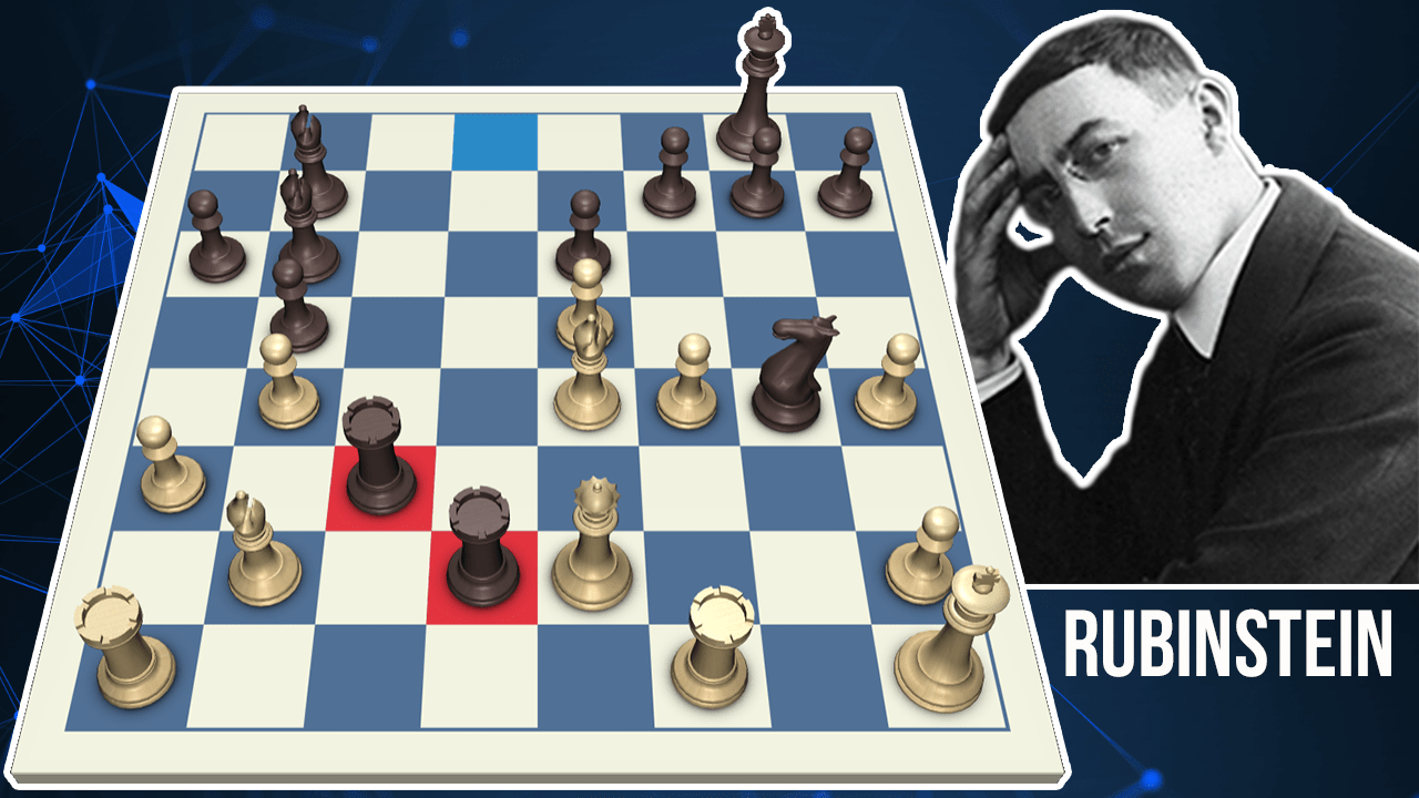 Rubinstein Plays The Greatest Chess Combination Ever! - Every Move Explained