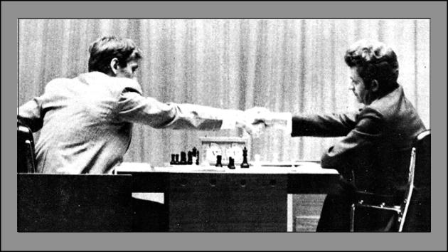 Fischer, Spassky, Thorarinsson and Gigoric.