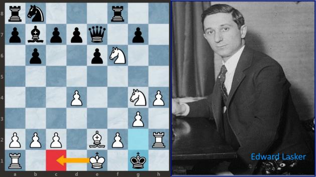Lasker vs Thomas: Nice game and great combination (+ Video)