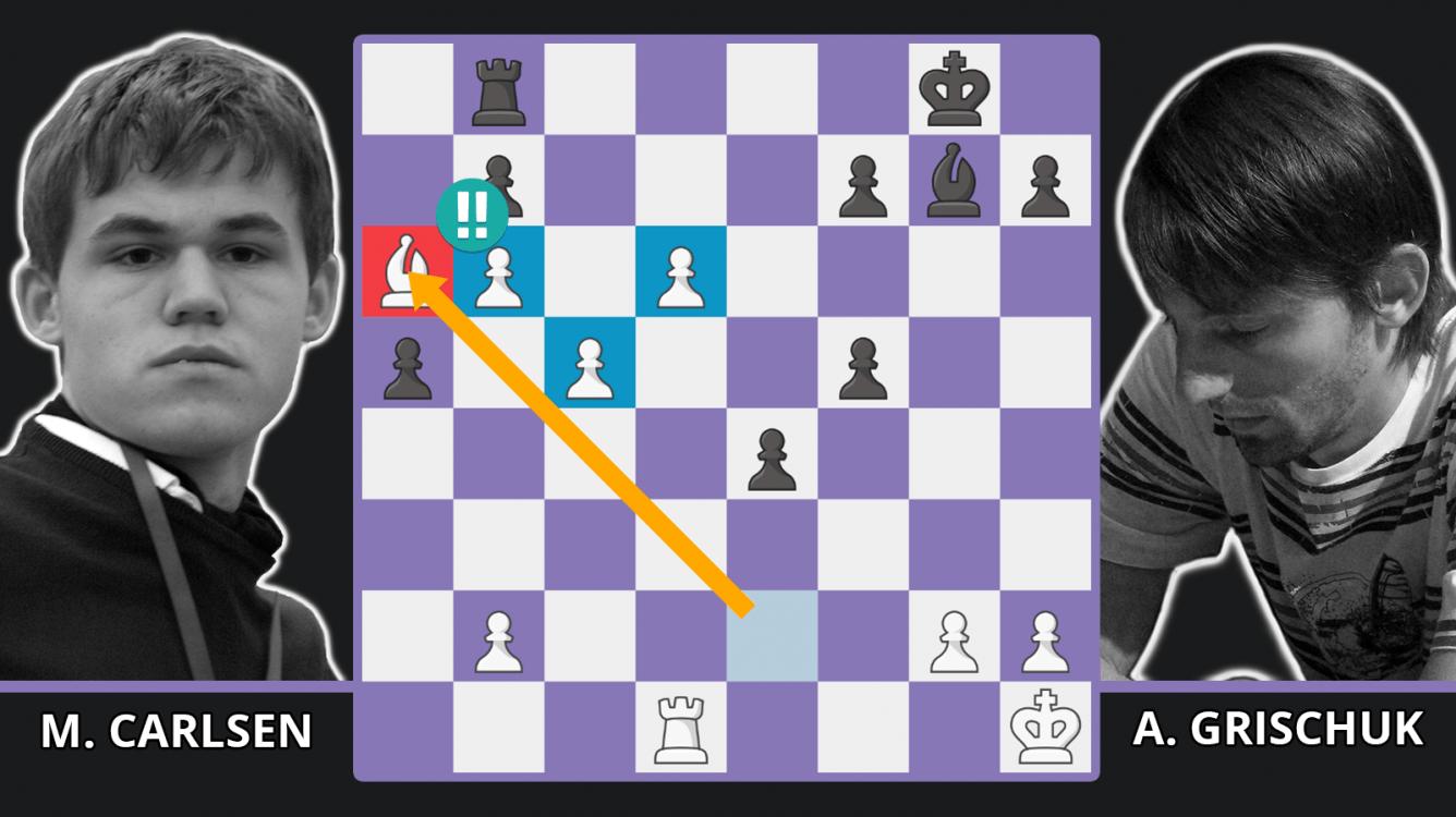 Magnus Carlsen's Winning Passed Pawn Tactics! - Carlsen vs. Grischuk, 2009