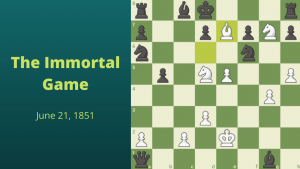 Commemorating The Immortal Game Of Adolf Anderssen