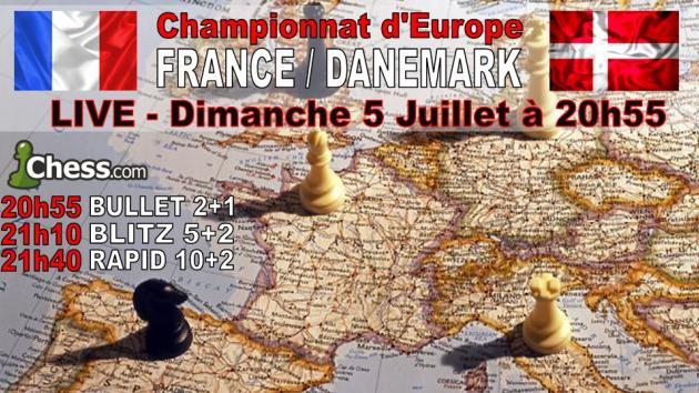 Participez au choc France Danemark ce Dimanche