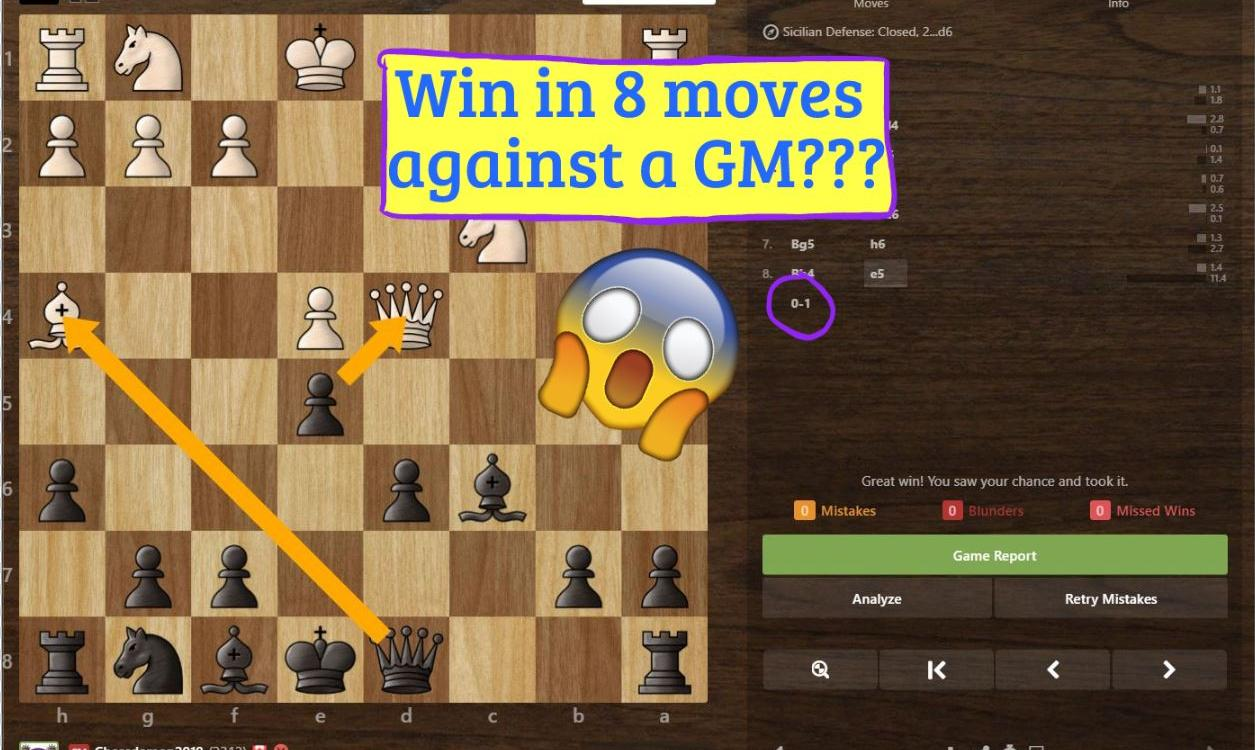 How I Beat a Grandmaster in 8 Moves! (Opening Analysis and Trap Included)
