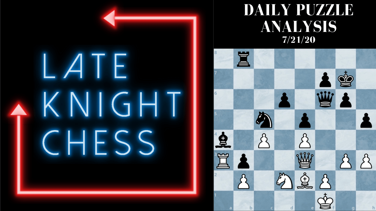 Today's Daily Puzzle: 7/21/20: Even Grandmasters Miss Tactics