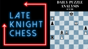 "Today's Daily Puzzle 8/3/20: ""Forking"" A Bishop and Checkmate"