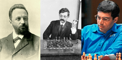 Chigorin-Lasker-Anand,  Knight Attack and Great Warriors!