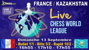 Jouez avec l'équipe de France Chess.Com ce dimanche