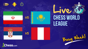 Live Chess World League: Iran Defeats Kazakhstan