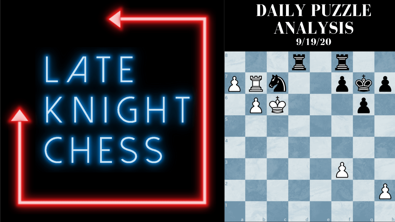 Today's Daily Puzzle 9/19/20: Video Analysis Inside!
