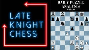 Today's Daily Puzzle 9/29/20: Push Pawns, Weaken King