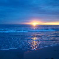 Sunset at the Santa Monica Beach!