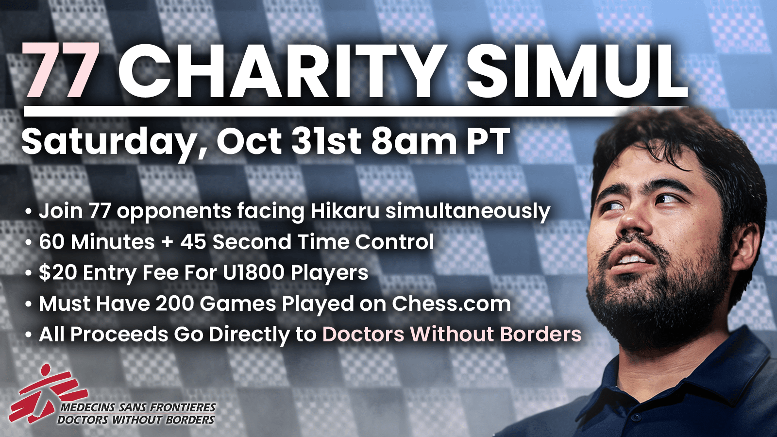 Play Me In A 77-Board Simul For Charity On Oct. 31 - Chess.com
