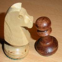 Knight vs pawn