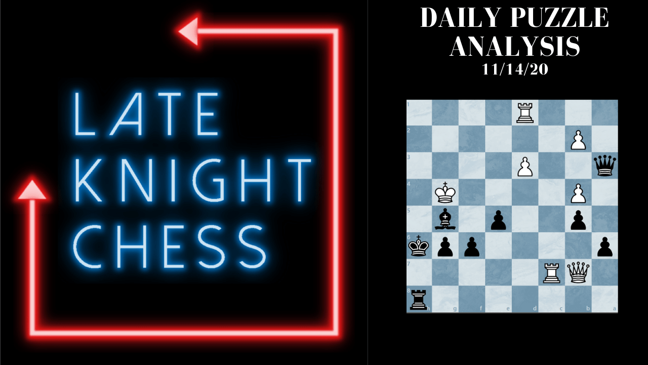 Today's Daily Puzzle Video: 11/14/20