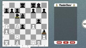 """What happens when a player chooses to """"plunder"""" in PlunderChess®?"""
