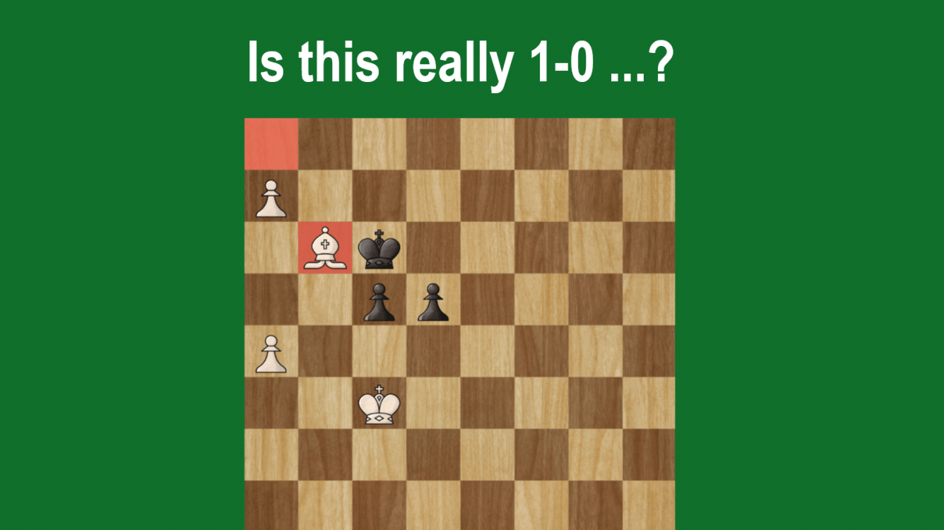 A Bishop up is not Enough to Win - Rook's Pawn Endgame