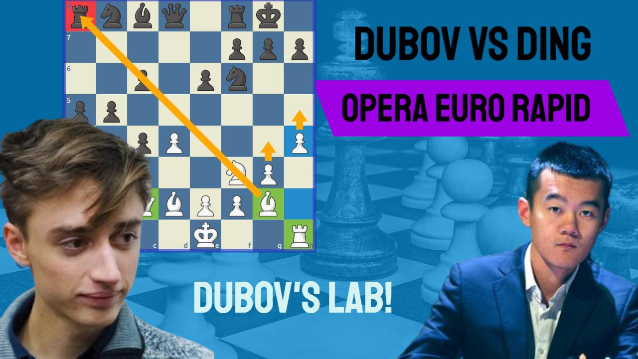 Dubov blows Ding Liren off the board in only 18 moves!