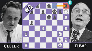 The Greatest Defensive Chess Move Of All Time - Best Of The 50s - Geller vs. Euwe