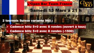 Open Bar 960 ce soir 21h / 5+0