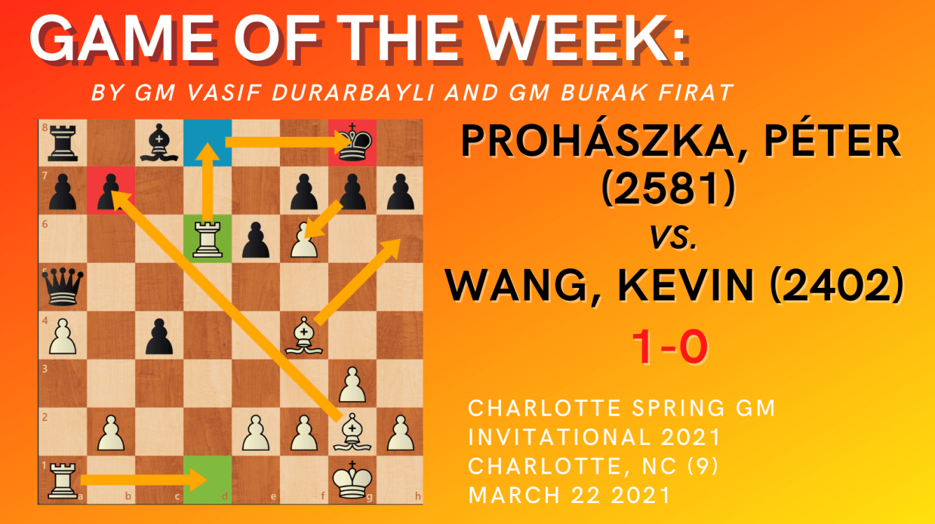 Game of the Week XII- Prohászka,Péter (2581) vs. Wang,Kevin(2402)